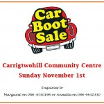 Car Boot Sale November 1st